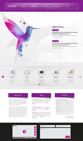 Professional Website Template for Your Business. Vector