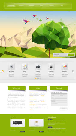 tree services company: Professional Website Template for Your Business.  Illustration