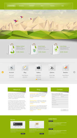 lanscape: Professional Website Template for Your Business. Illustration