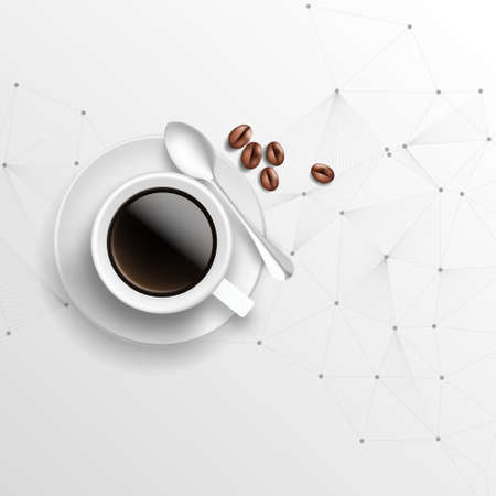coffee cup and business background. Vector
