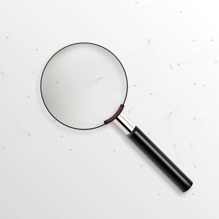 Realistic vector magnifying glass 向量圖像