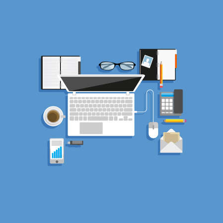 pendrive: Vector Flat workplace.