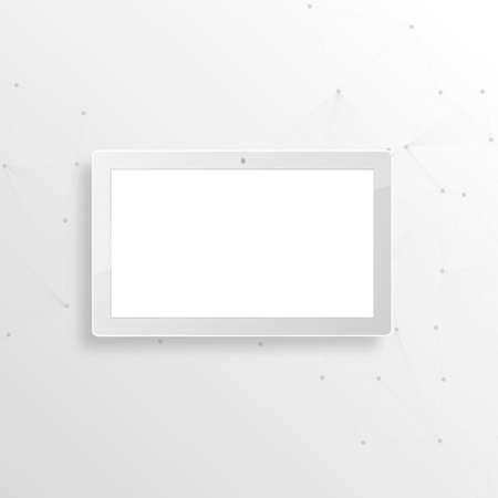 Vector white tablet pc on white background. Vector Eps. Vector