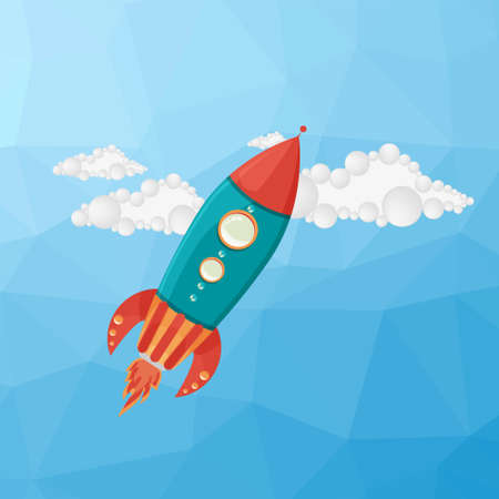 rocket launch: Lanzamiento de Rocket fondo. Ilustraci�n vectorial Vectores