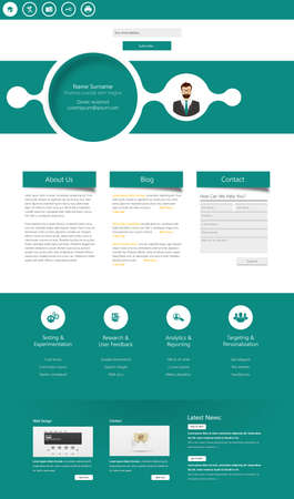One page website design template. All in one set for website design that includes one page website templates. Vector