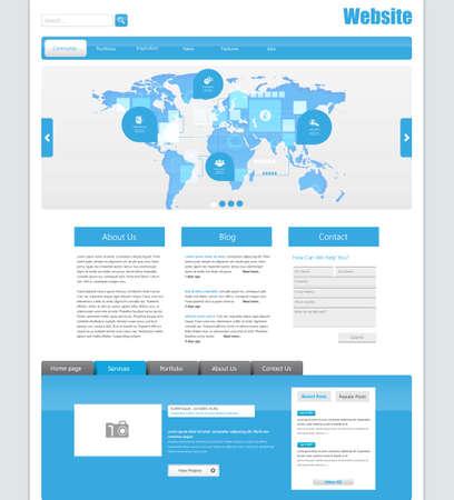 search bar: Vector Website Template Design Eps 10
