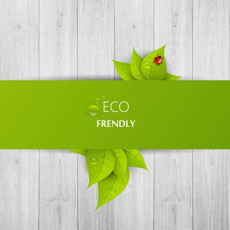 緑のエコ抽象的なデザイン、ベクトル イラスト eps 10