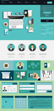 website: One page website design template Illustration