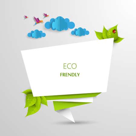 Green eco abstract design, Vector illustration eps 10 Vector