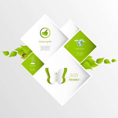 Eco Website Template Vector