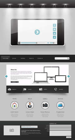 modern creative one page website design template Vector