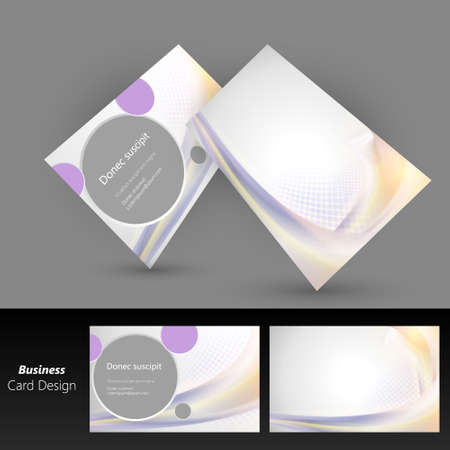 Abstract business card with colorful wave vector design Vector