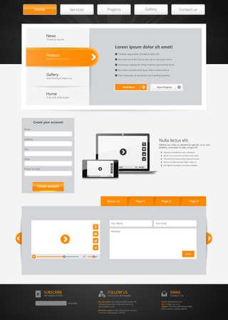 submenu: Website Template design. Vector eps10
