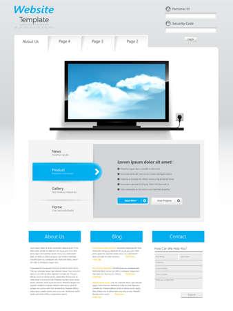 Website Template design. Vector eps10 Vector