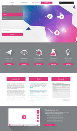 all in: One page website design template. All in one set for website design that includes one page website templates,