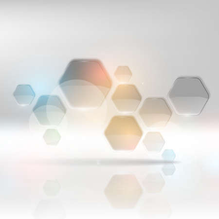 grey abstract background: Modern Hexagon Design - Business background. Illustration