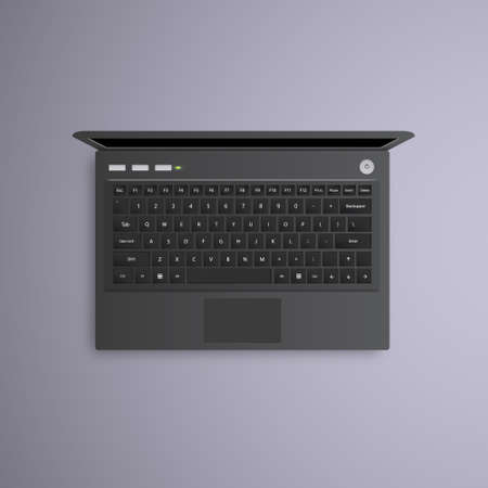 laptop isolated: vector open laptop isolated.