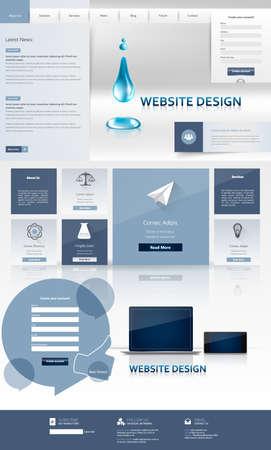Business Professional Website Template Design. Vector