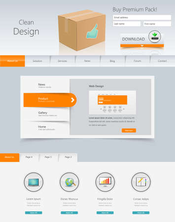 sidebar: Professional Website Template, Creaive Web Design