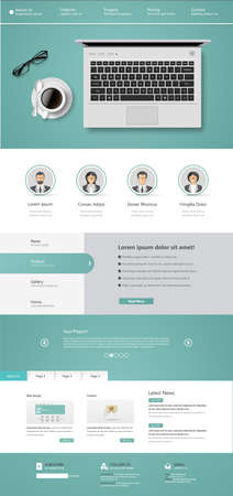 harm: One page website design template. All in one set for website design includes harm one page website template.