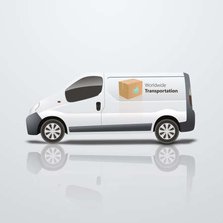 low tire: White delivery is vector illustration Illustration