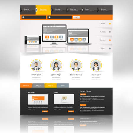 submenu: Website Template Design for Your Business.