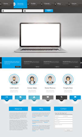 Website Template Design for Business Vector