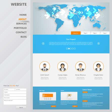 search bar: Website Template Design for Business Illustration