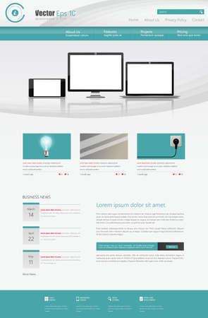 submenu: Business Website Design Template illustration Illustration