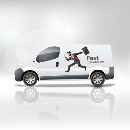White delivery is vector illustration Vector