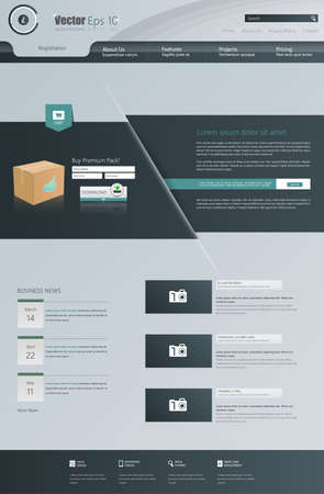webtemplate: Business Website Design Template Vector illustration. One page style.