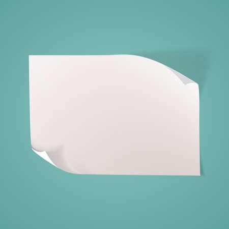 Pusty arkusz papieru. Ilustracje wektorowe