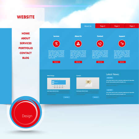 Design of the menu for your website. Creative web design Vector