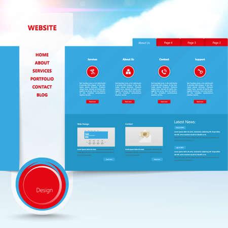 Design of the menu for your website. Creative web design