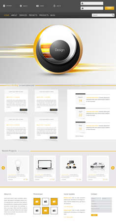 One Page Website Template Creative Modern design Vector