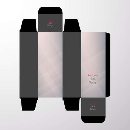 toilette: perfume boxes vector design