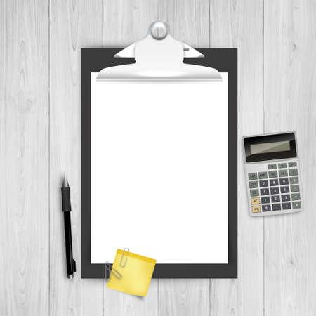 Theme Design Vector Clipboard in Business. Eps 10 Vector