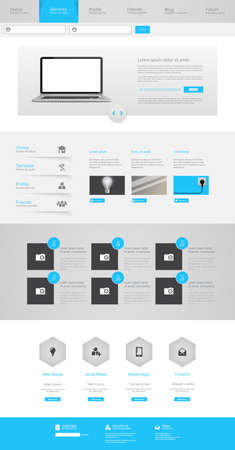 wordpress: One Page Website Design Template Vector Eps 10