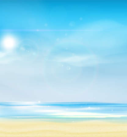 Summer Background Vector Illustration. 向量圖像