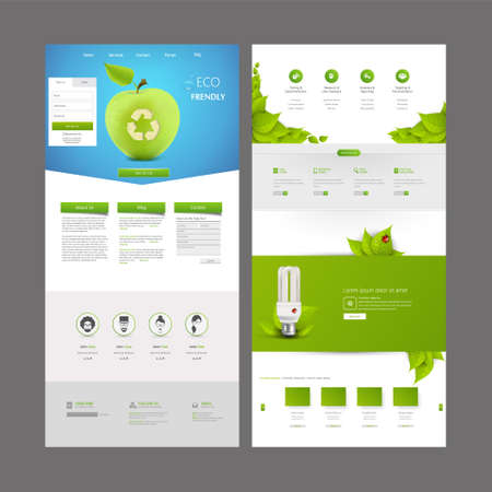 web button: Eco One Page Website Design Template