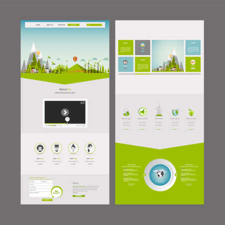 one object: Eco One Page Website Design Template