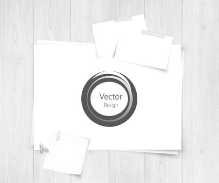 papaer: White sheet of papers and abstracts design.Realistic vector background eps10 Illustration