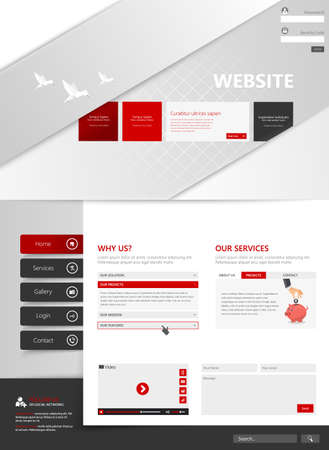 vector eps10: Creative template for your website, vector eps10