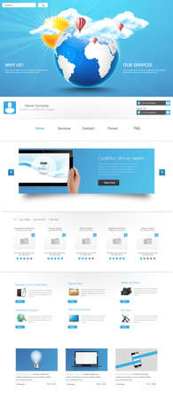 harm: Clean Modern One page website design template. All in one set for website design includes harm one page website template