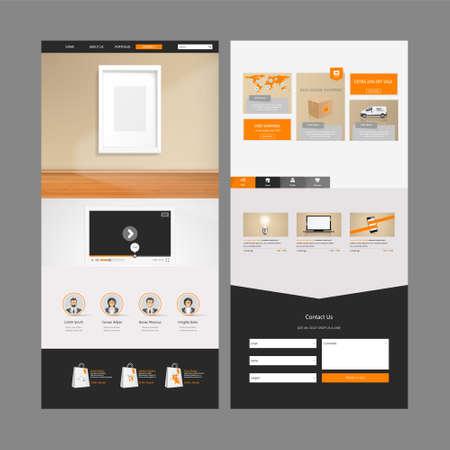 website header: One Page Website Template Designs and header.