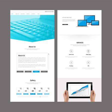 website header: One Page Website Template Designs and Header