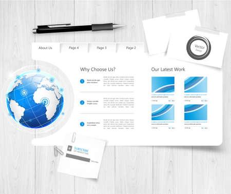web site: Website Template. Vector illustration. Illustration