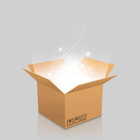 outgoing: open box with the outgoing light