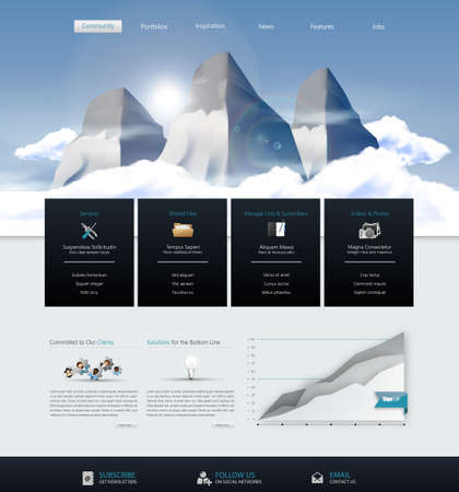 vector web design elements: Website Design Template Vector