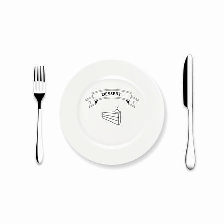 dinner plate: Vector Icon Dinner plate with knife and fork design, Can we use Restaurant menu design